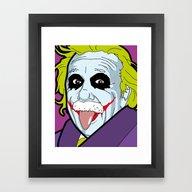 Pop Icon - Albert Joke Framed Art Print