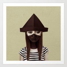 Ceci N'est Pas Un Chapea… Art Print