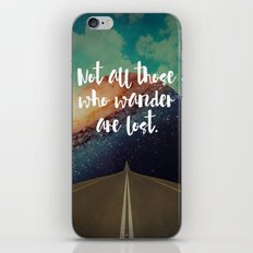 Vintage Quotes Collection -- Not All Those Who Wander Are Lost iPhone & iPod Skin