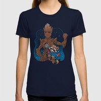 BFFs Womens Fitted Tee Navy SMALL