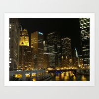 Chicago River 2005 Art Print