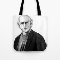 DARK COMEDIANS: Larry David Tote Bag
