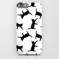 Cats-Black on White iPhone 6 Slim Case