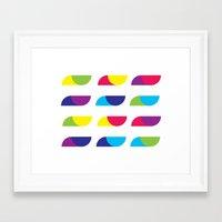 Colorful Flying Birds Framed Art Print