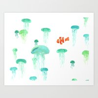 Sea of Jellies Art Print