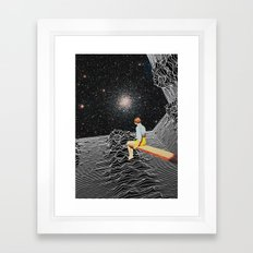 unknown pleasures to Infinity Framed Art Print