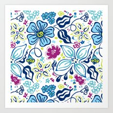 Fling Flowers Art Print