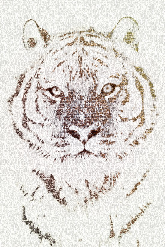 The Intellectual Tiger Art Print