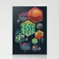 Geometrical Wonders Stationery Cards