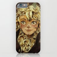 iPhone & iPod Case featuring The Girl Raised by Foxes of the Northeast by CKellyIllustration