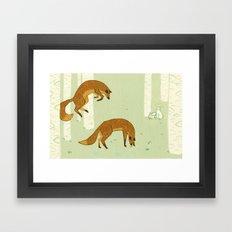 Wrong Focus Foxes Framed Art Print