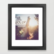 Framed Art Print featuring Sunset Lover by Cristina Prat Mases
