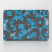 In Bloom (blue & grey) iPad Case
