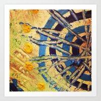 Compass Dial Art Print