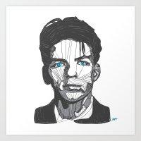 Ol' Blue Eyes Art Print