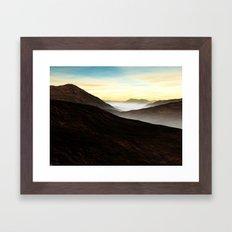 Foggy Mountains Framed Art Print