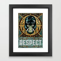 Respect Framed Art Print