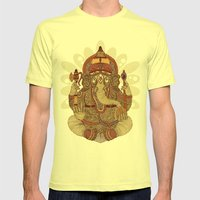 Ganesha: Lord Of Success Mens Fitted Tee Lemon SMALL