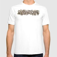 Random Numbers Mens Fitted Tee White SMALL