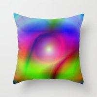 Rainbow Iris Throw Pillow