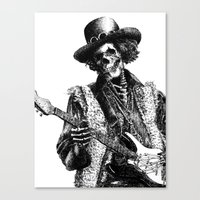 The Legend of Guitarist Canvas Print