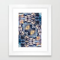 Community Of Cubicles Framed Art Print