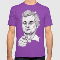 Bill Murray Mens Fitted Tee Ultraviolet SMALL