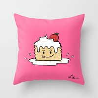 Tres Leches Throw Pillow