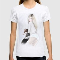 Women_fox Womens Fitted Tee Ash Grey SMALL