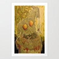 Killer Pasta Art Print