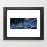 And Now My Watch Begins – Game Of Thrones Fan Art Framed Art Print