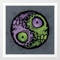 Zombie Yin-Yang Art Print