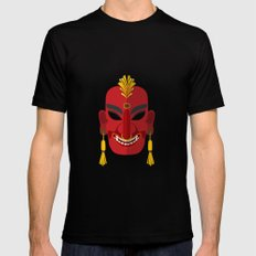 Tribal mask Mens Fitted Tee Black SMALL