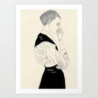 Art Print featuring KB by Kaethe Butcher