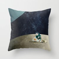 The Space Gardener Throw Pillow