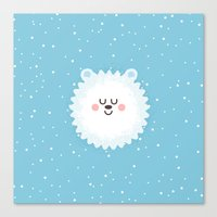 Sleeping Polar Bear Canvas Print