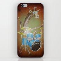Giraffe Playing Drums iPhone & iPod Skin
