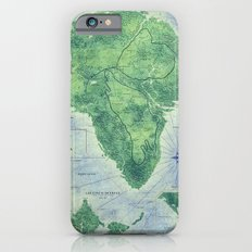 Jurassic Park - Map - Colour iPhone 6 Slim Case