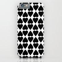 Diamond Hearts Repeat Black iPhone 6 Slim Case
