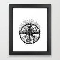WILD PEACE Framed Art Print