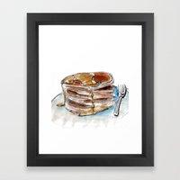 Food Fetish: Sunday Framed Art Print