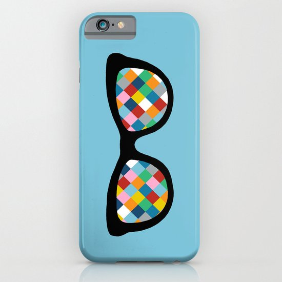 Diamond Eyes on Blue iPhone & iPod Case