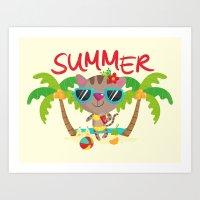 Hello, Summer Art Print