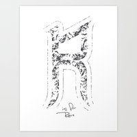 R - Is For Rare - White … Art Print