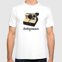 instagrammer Mens Fitted Tee White SMALL