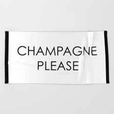 Champagne 2 Beach Towel