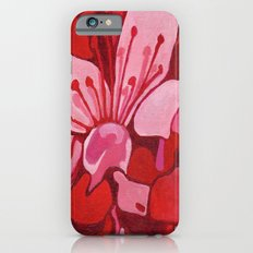 Cherry Blossom in Red iPhone 6 Slim Case