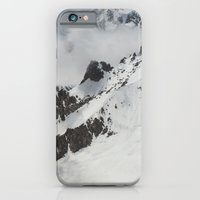 iPhone & iPod Case featuring Clouds Shrouding Mont Blanc by Neil Warburton