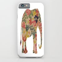 iPhone & iPod Case featuring Flower Power Elephant by liberthine01