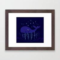 Whale Night Framed Art Print